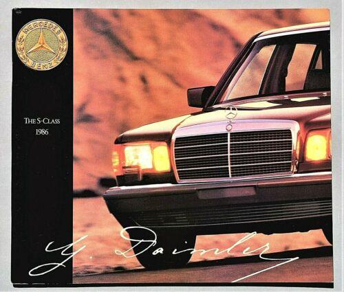 """ORIGINAL 1986 MERCEDES S CLASS PRESTIGE BROCHURE ~ 10.5"""" X 12"""" ~ 50 PAGES ~ TS"""