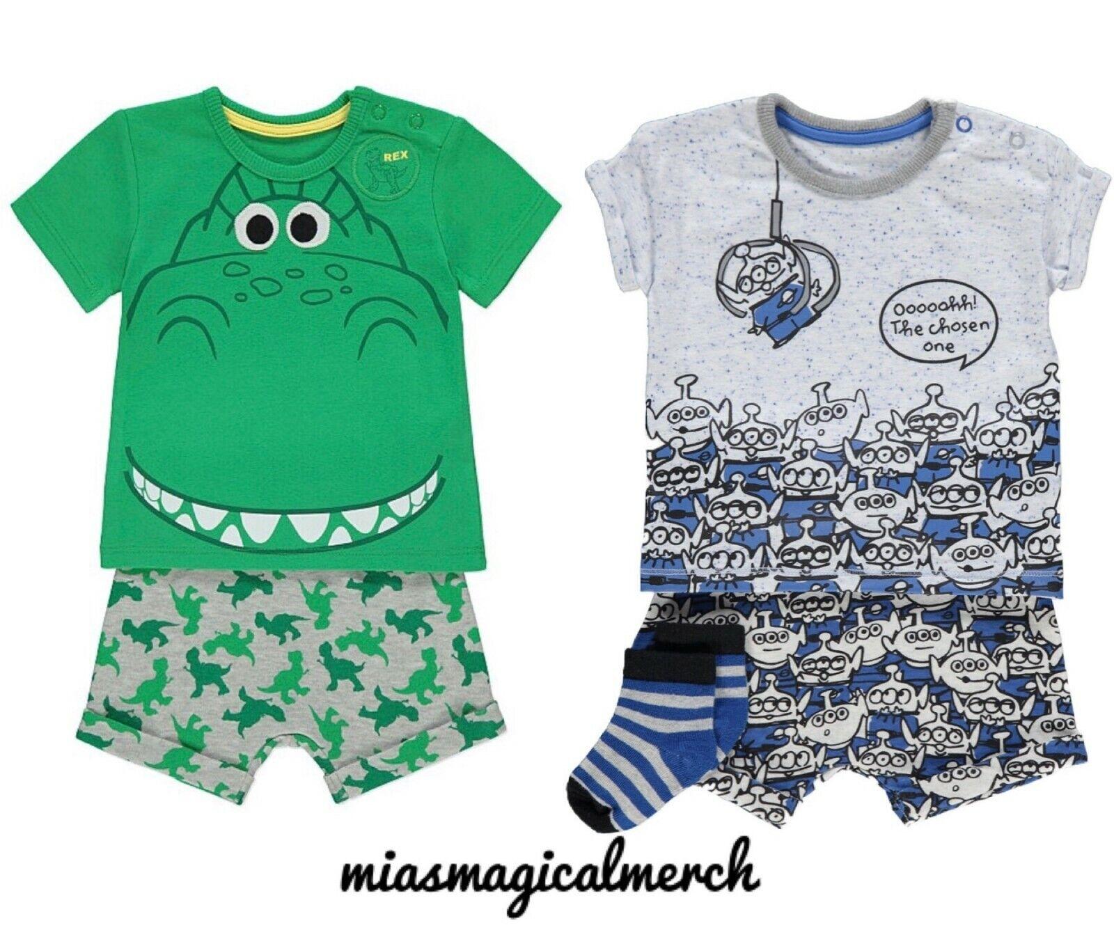 Brand New Baby Disney Toy Story Clothing Rex Alien Short Set