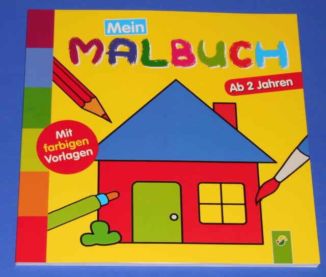 Mein Malbuch ab 2 Jahren mit farbigen Vorlagen (Haus)