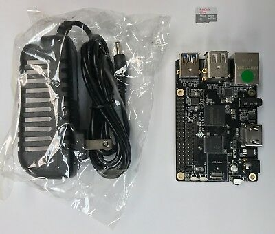ROCK64 Single Board Computer Kit includes MicroSD and Power Adapter!