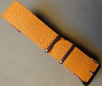 mee Kampf Leder 20mm Orange Uhrenarmband Passt Militär Sport (Armee Passt)