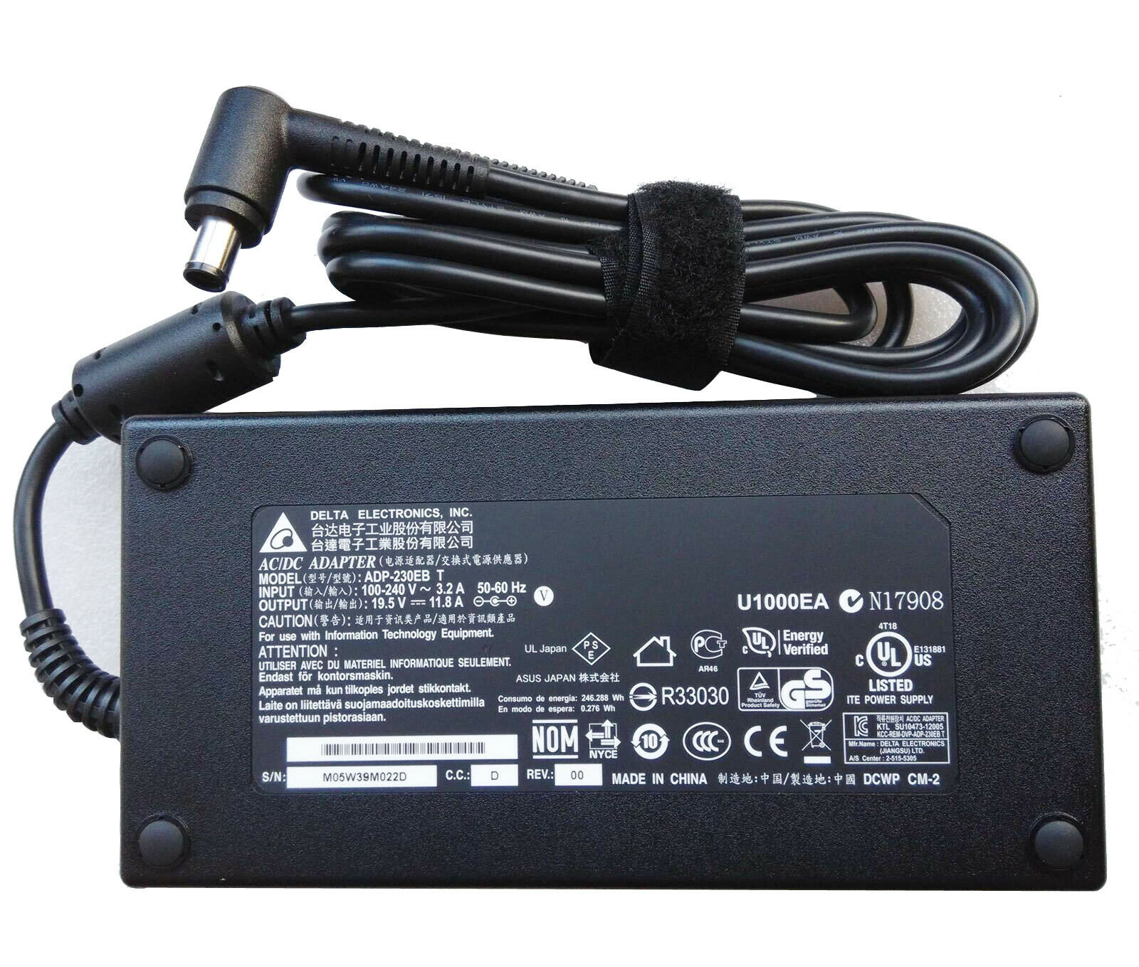 AC Adapter Power Supply Charger for MSI GS73 8RF-049CA Stealth