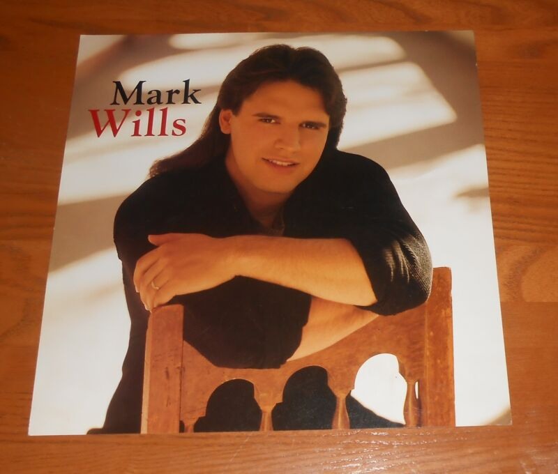 Mark Wills Poster 2-Sided Flat Square 1996 Promo 12x12 RARE Country