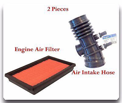 2 Pcs Air Intake Hose  Air Filter For Nissan Frontier Xterra V6 33L 199920 04