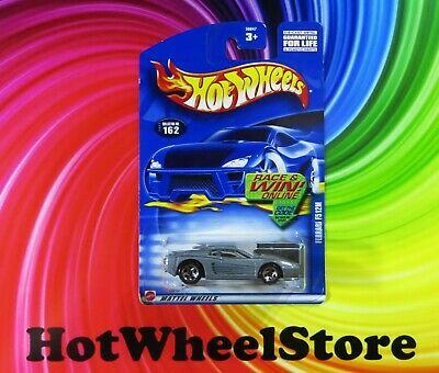 2002  Hot Wheels  Gray  FERRARI  F512M   Creased Card #162    HW25-040920