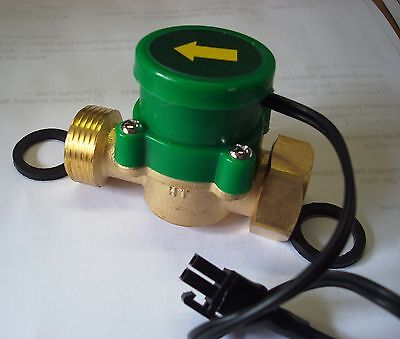 12v-24v  inline Flow Switch by Grundfos 1/2 inch to 1/2 inch..