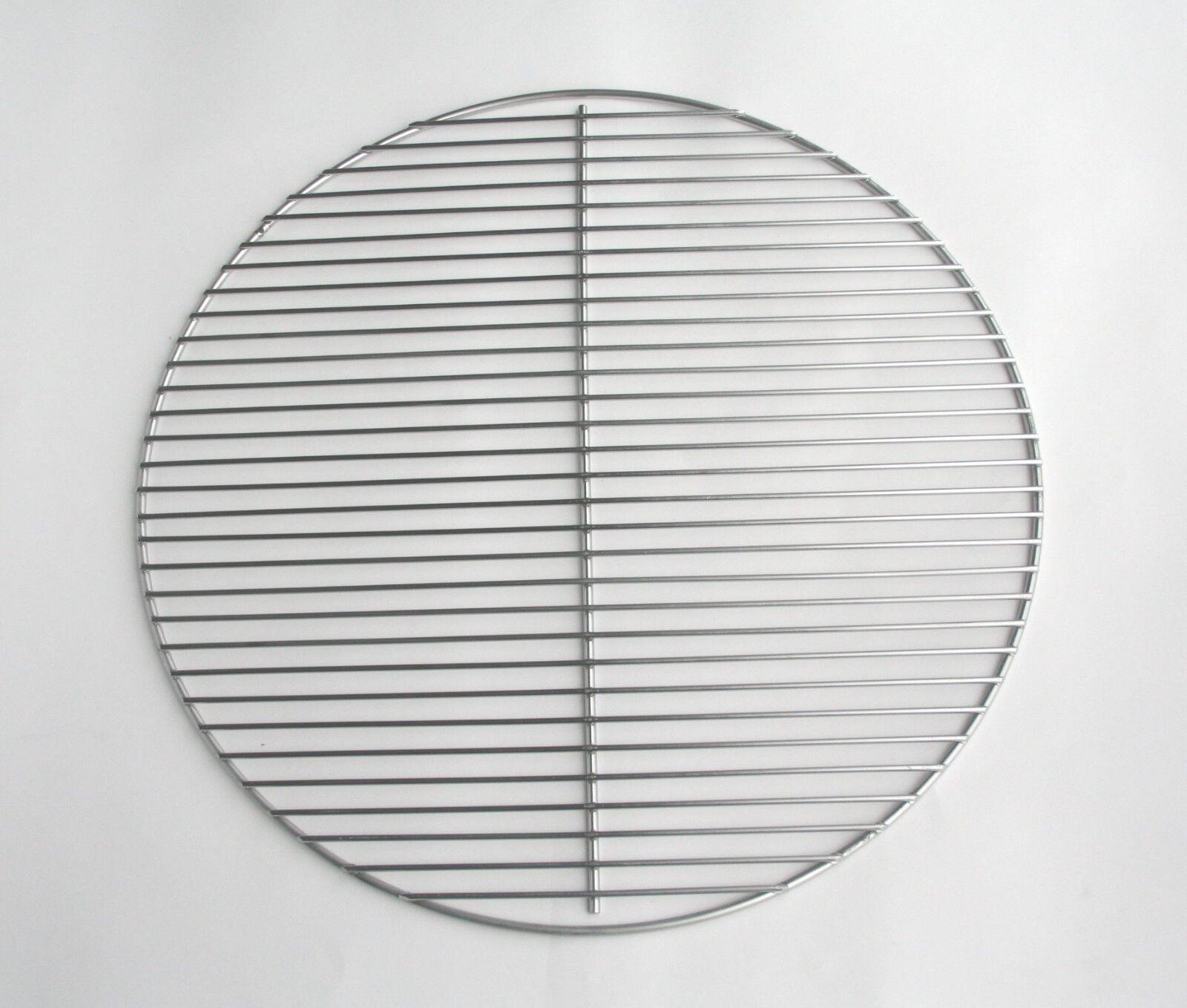 Ø 54,5 cm Edelstahl poliert Grillgitter Grillrost flach rund Grill auch Weber 57