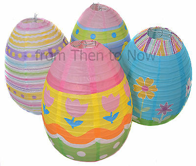 1 x Easter Egg Paper Hanging Lantern Decoration Large Chic & Shabby Party Light