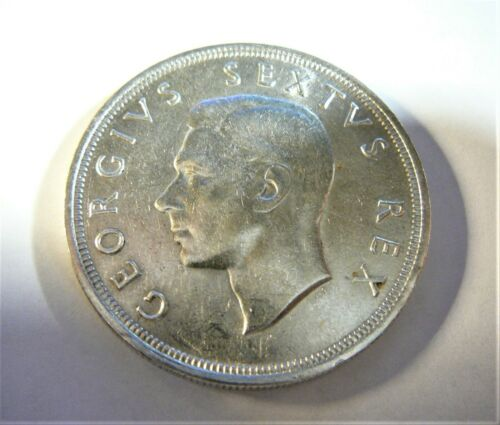 1952 South Africa 5 Shilling George VI silver coin SB1