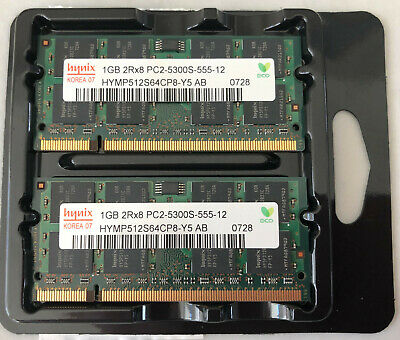 OEM HYNIX LAPTOP MEMORY 1GB 2RX8 PC2-5300S-555-12 HYMP512S64CP8-Y5 AB  Pack of