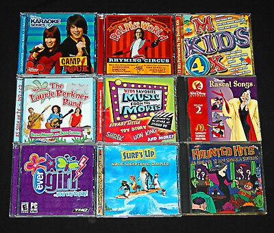 Childrens DVDS CDS Software 9 Disc Lot Assorted Disney Songs Soundtracks