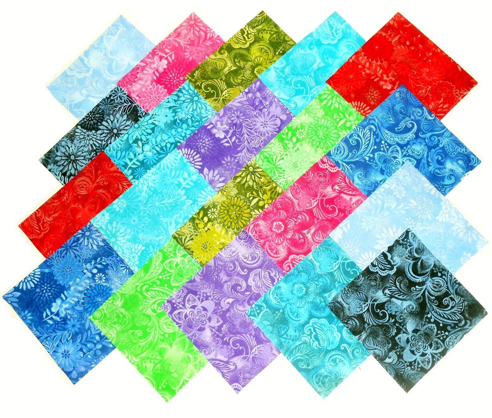 20 10 Quot Quilting Fabric Layer Cake Squares Batik Tonal