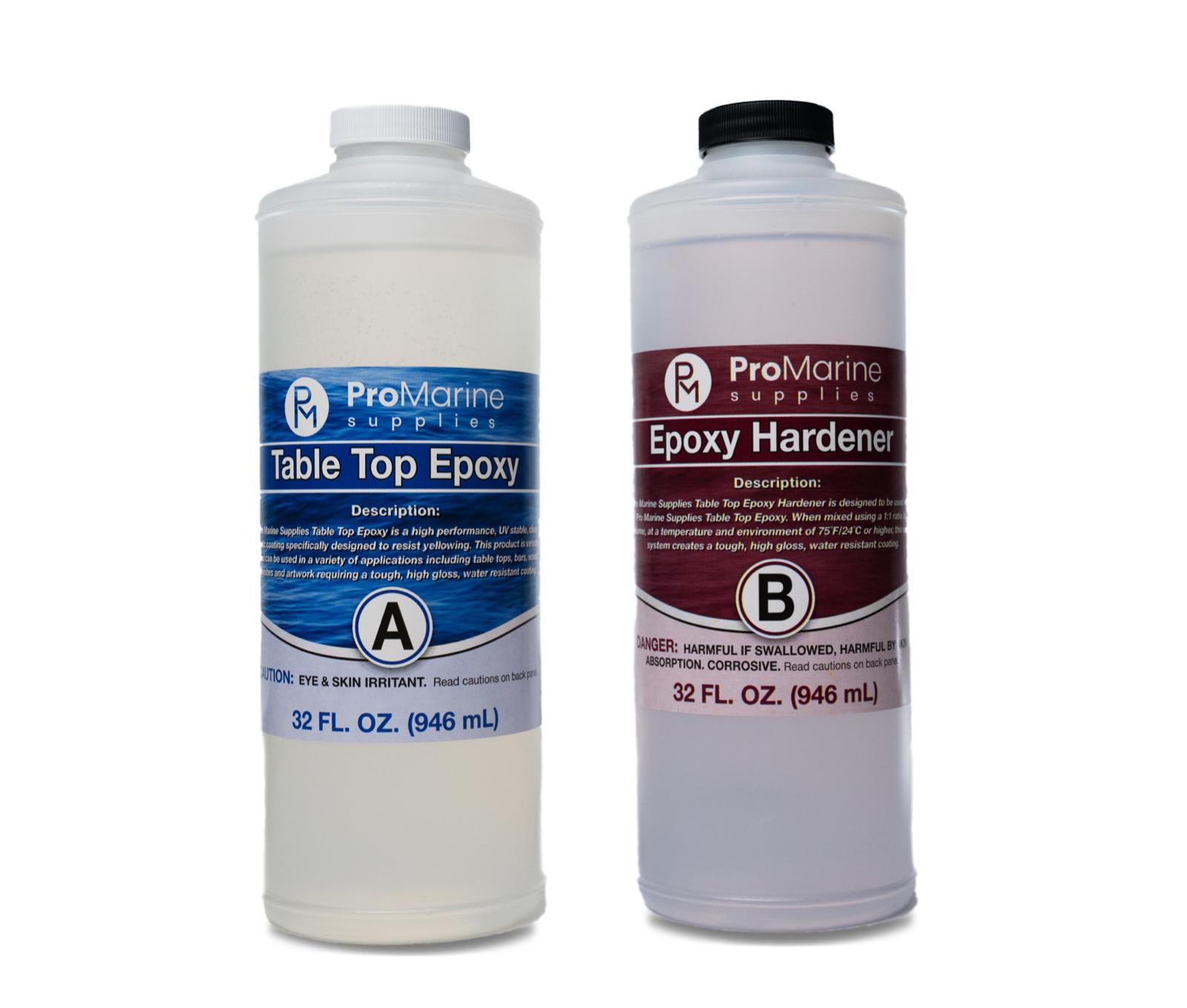 Crystal Clear Bar Table Top Epoxy Resin  2 Quart Kit