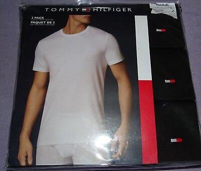 3er Set Tommy Hilfiger Rundhals T-Shirts Gr L (fast XL) schwarz NEU   #TH9 ()