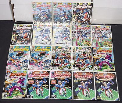 Vintage Marvel Copper Age NFL SuperPro 18pc High Grade Comic Lot Spider-Man