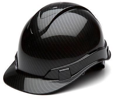 Full Safety Helmet Carbon Fiber Glossy Ratchet Suspension Hard Hat Protection