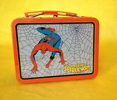 The AMAZING SPIDER-MAN - Tin Metal Lunch Box - Marvel - 1998