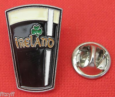 Guinness Ireland Shamrock Lapel Hat Tie Cap Pin Badge Breweriana Brooch Souvenir