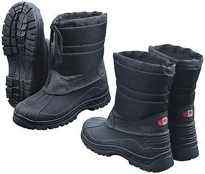 Schwarze Winter-schnee-stiefel (Winterstiefel Canadian Snow Boots II Schneestiefel Schwarz Thermo Winter Stiefel)