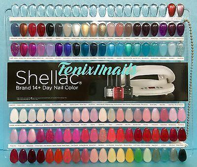 Cnd Shellac Salon Nail Tip Color Chart Palette 102 Displa...