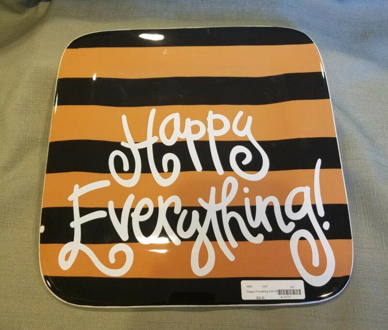 "Happy Everything Camel Stripe Mini Platter 9.25"" NEW"