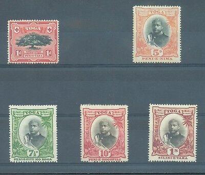 Tonga 1897  sg.39, 46, 48-50 MH