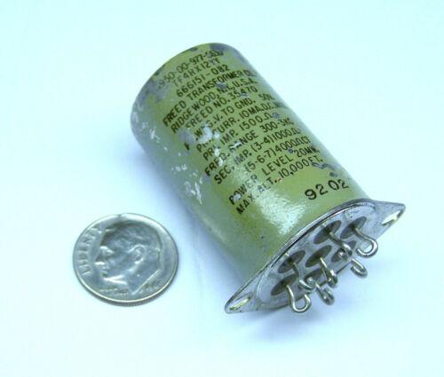 "FREED 35470 NOS AUDIO FREQUENCY TRANSFORMER 7 TAB 20 MW 300 HZ/1 KHZ 1-3/4"" OAL"