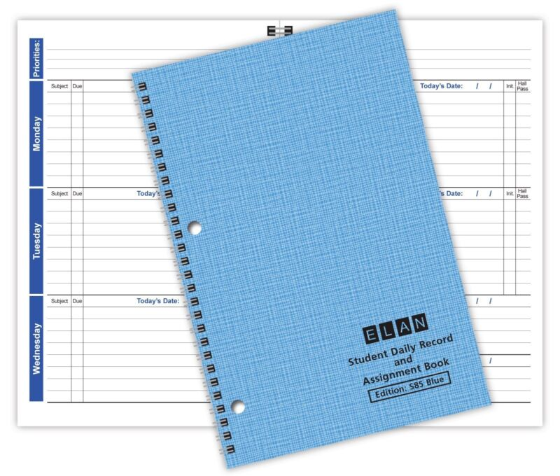 Student Planner Weekly Format - Full Year (S85-Blue)
