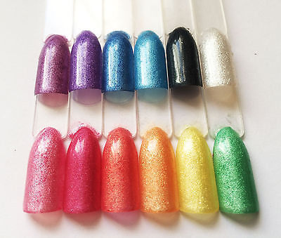 BLING IT ON Sparkle Nail Additives Mica Pigment Powder Set 12 for Acrylic, Gel +