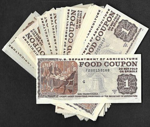 FOOD STAMP COUPON  MONEY SCRIP TOKEN  USDA   NOTE  $1.00