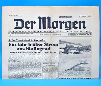 Der Morgen 24. Dezember 1958 zum 60. Geburtstag Hochzeit 24.12.1958 DDR