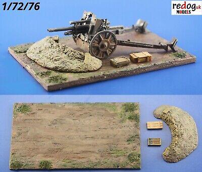 Redog 1/72 - Military Gun Emplacement - Scale Model Display Base kit/d10