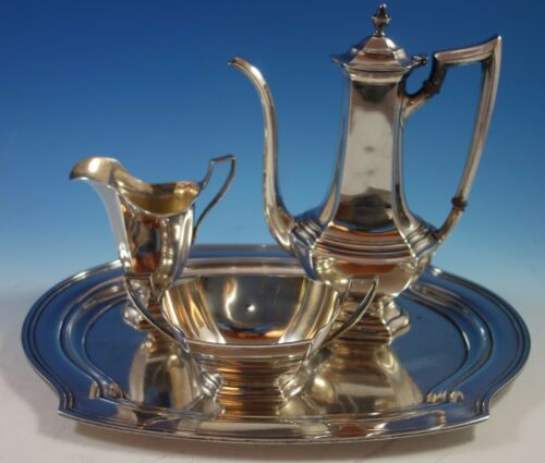 Washington By Wallace Sterling Silver Demitasse Set 3pc With Tray (#1721)
