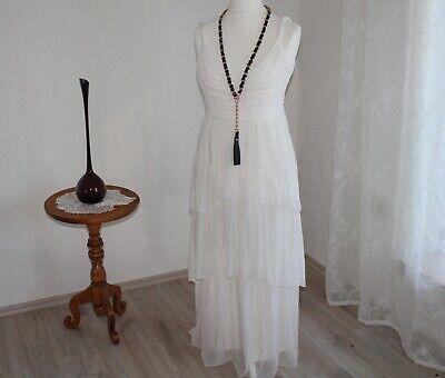 langes weißes Kleid Gr 38 Vintage auch als Kostüm Elfe Fee (Fee Elfen Kostüm)