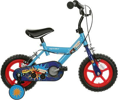"Monster Truck Kids Boys Bike 12"" Wheel Steel Frame 3-5 Year Bicycle Stabalisers"