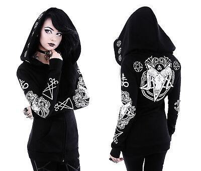 Skull Jack (Restyle Gothic Jacke Skull Hoodie Nugoth Sigil Lucifer Ram Kapuze Witchy Ritual)