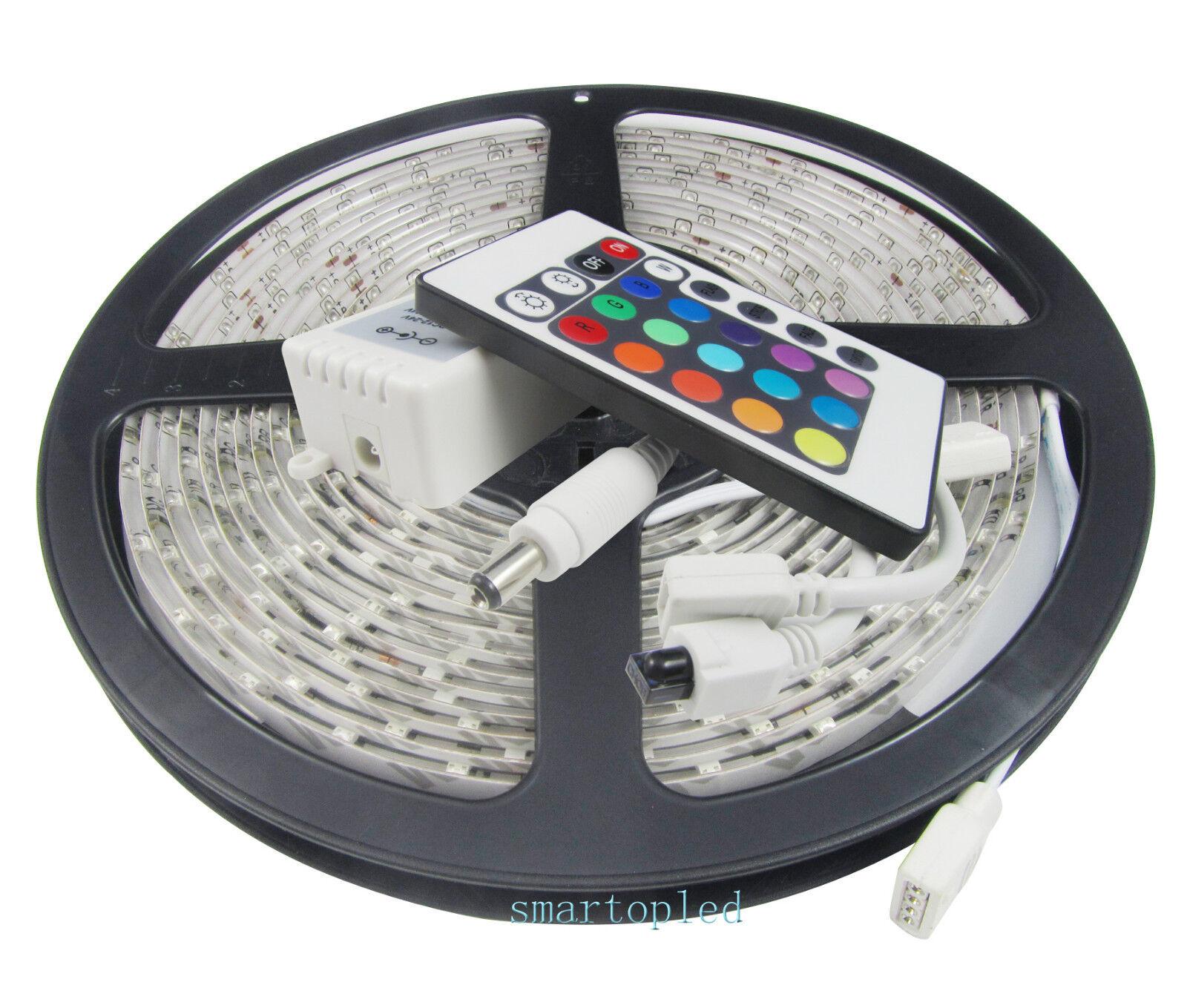 Waterproof 5050 Tape Light: Waterproof 5M/Roll RGB 5050 SMD 300 Leds LED Strip