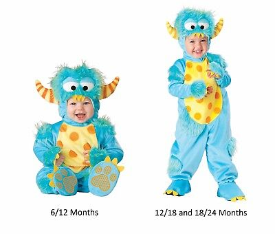 NEW NWT Boys or Girls Baby Lil Monster Halloween Costume 6/12 12/18 18/24 Months - Lil Monster Baby Halloween Costume