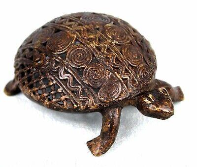 Art African Arte African - Tortoise Filigree Bronze Ashanti - Ghana - 11 CMS