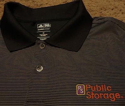 Mens Ps Public Storage Uniform Work Polo Work Golf Shirt Medium Polyester