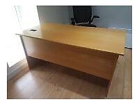 Executive light oak office desks