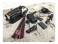 jvc video camera with full accessories inc 2 batteries and 7 mini tapes