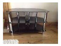 Serano Black Glass TV Stand
