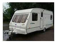 Bailey ranger 4 berth 2001 with fixed bed