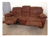 pkush comfy reclining Harveys sofas