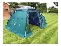 Camping Bundle including Coleman Trispace 8 man tent,larder,sleeping bay,table and stove £150 O.N.O