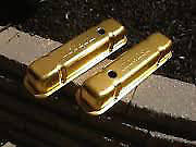 Pontiac V/8 Moroso Gold Valve Covers.