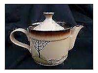 Denby Savoy Art Deco Style Tea Set Incs Tea Pot-6x Plates,6x Cups and Saucers, Sugar Bowl&Milk Jug