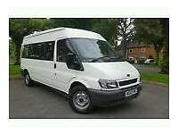 Private hire minibus with driver airport etc