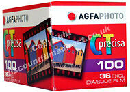 5 x AGFA PRECISA 100 35mm 36exp CHEAP COLOUR SLIDE FILM FRESH U.K